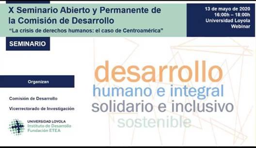 Loyola seminario virtual Derechos Humanos