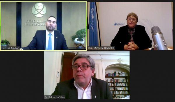 Michelle Bachelet, Alta Comisionada de Derechos Humanos de la ONU, y Luis Arriaga SJ, Presidente de AUSJAL, dialogaron sobre la situación de los derechos humanos en América Latina en el contexto de la pandemia.